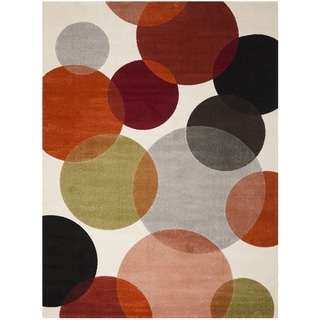 Hand Tufted Brown Contemporary Geometric Square Mayflower