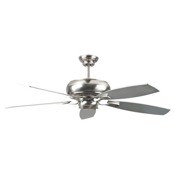 52 Inch Five Blade Satin Nickel Ceiling Fan 15127964
