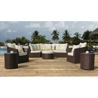 Sirio Wicker Resin 8 Piece Outdoor Furniture Set
