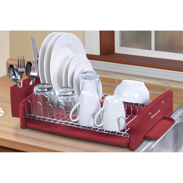 kitchenaid 3 piece red dish drying rack 15133346 shopping the best prices on. Black Bedroom Furniture Sets. Home Design Ideas
