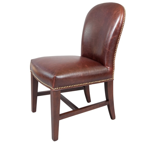 Overstock Dining Room Chairs: Belmont Leather Dining Chairs (Set Of 2)