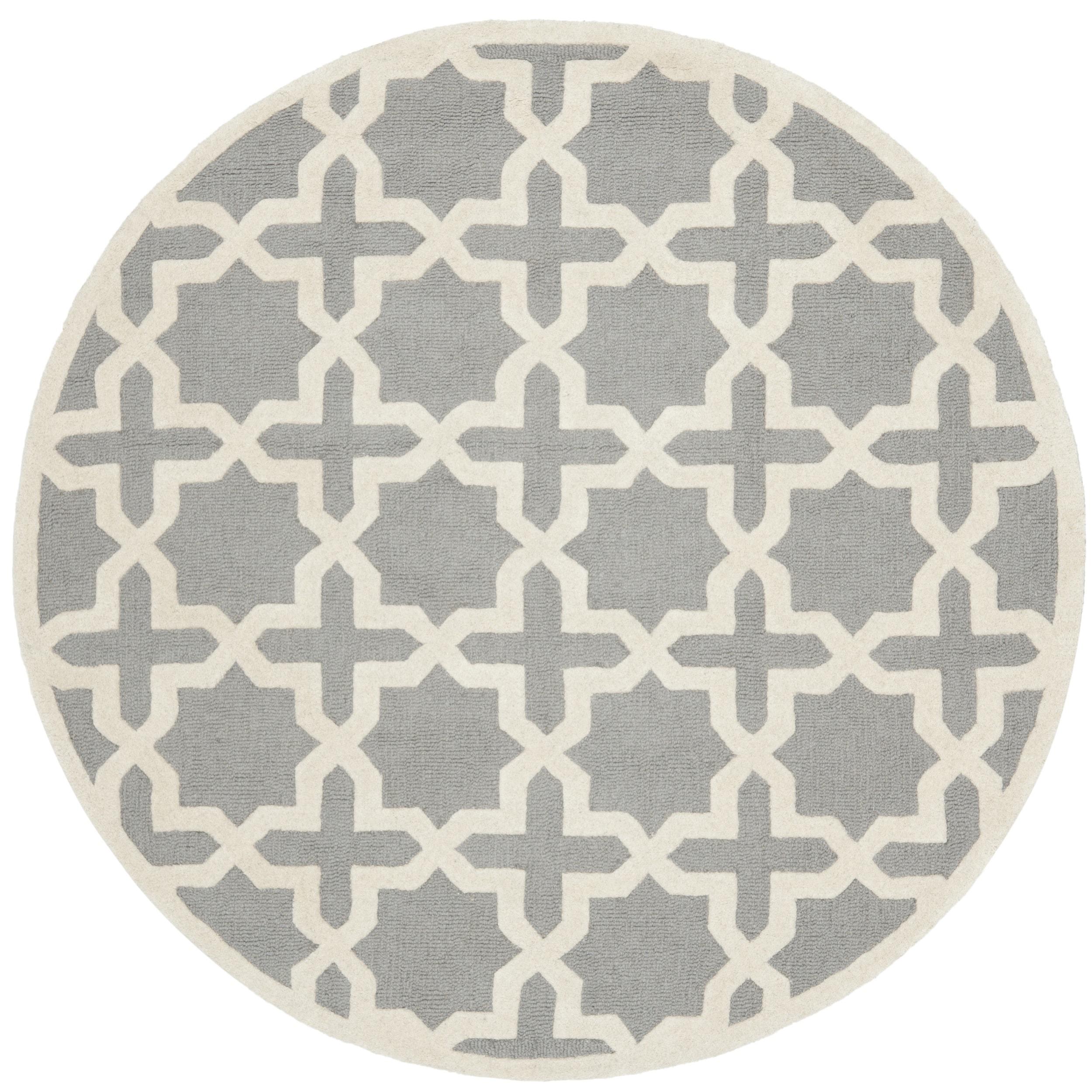 Contemporary Safavieh Handmade Cambridge Moroccan Silver Wool Rug