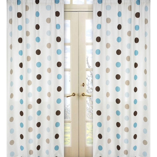 Blue Moroccan Tile Curtain Panels