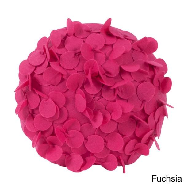 Round Flower 13 Inch Decorative Throw Pillow 15149158