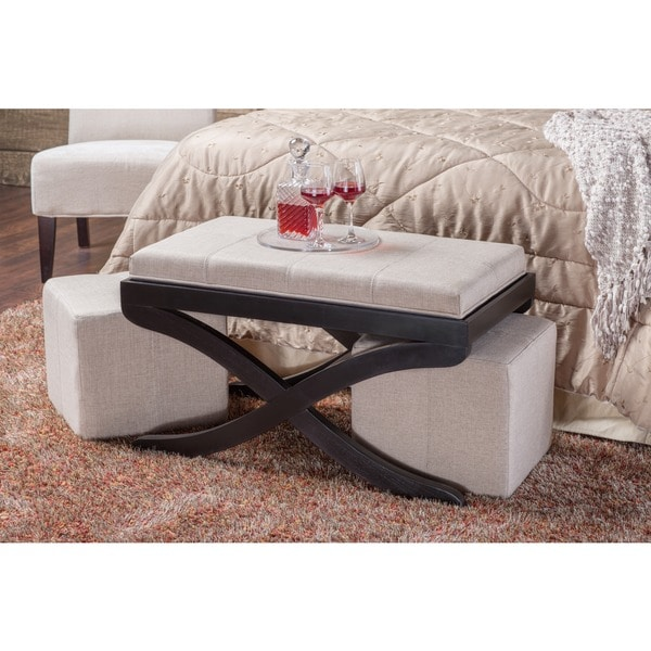 Furniture Of America Tea Time 3 Piece Nesting Ottoman With