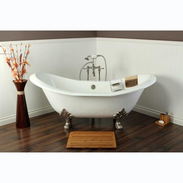 Double Slipper Cast Iron 72 Inch Clawfoot Bathtub
