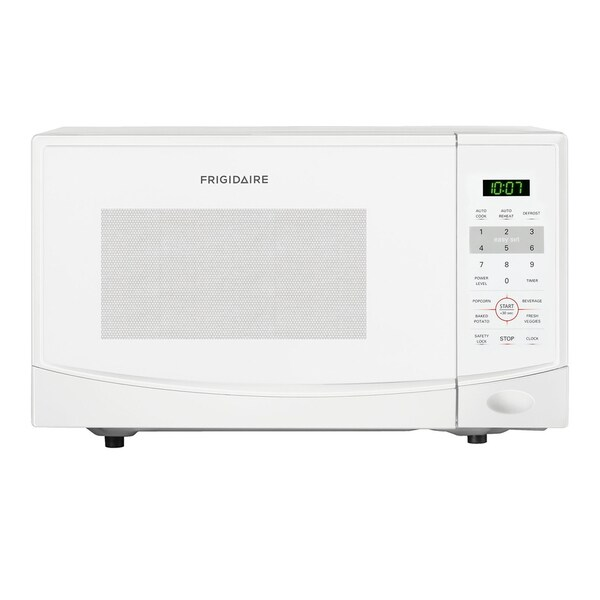 Frigidaire 0 9 Cubic Foot White Countertop Microwave Oven