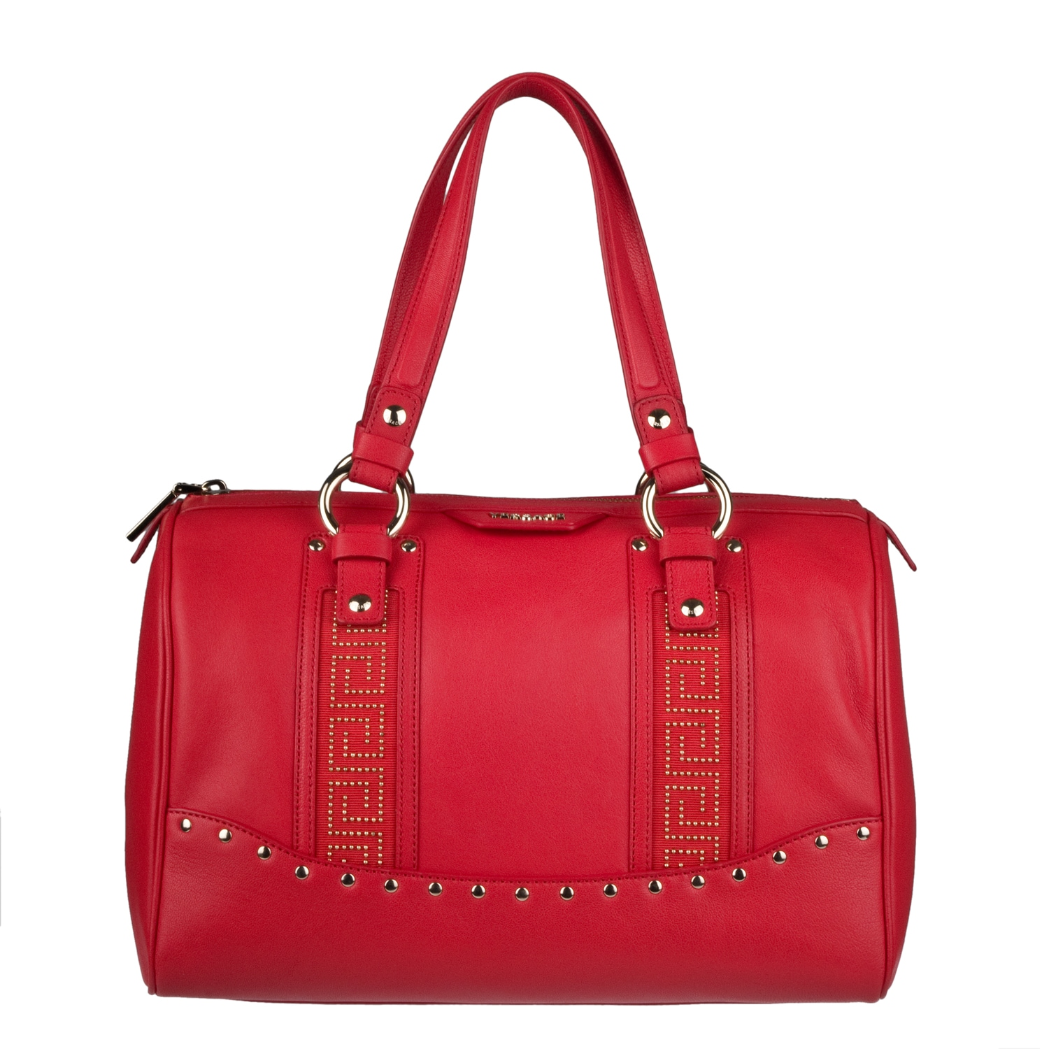 c164a0b73fe3 Versace Red Leather Studded Bowler Bag ™ Shopping Big on PopScreen