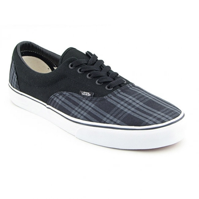6797935111 Vans Mens Era Tupelo Plaid Black Pewter Skate Shoes on PopScreen