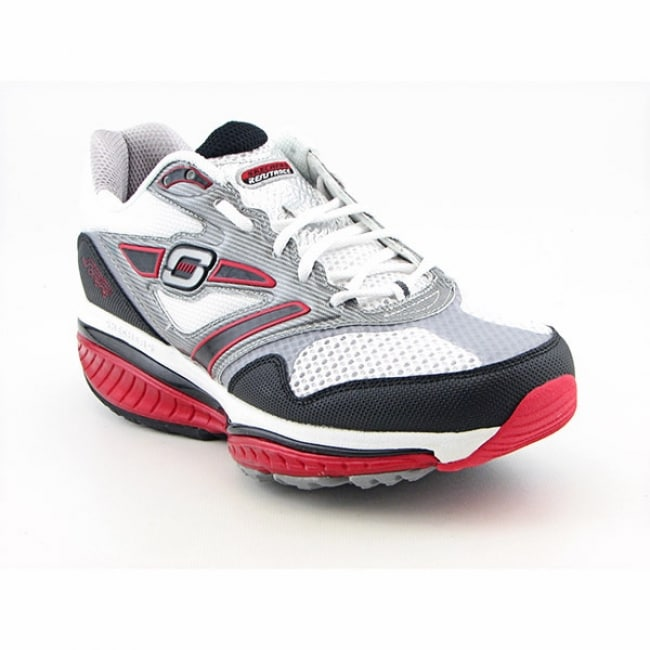 A Runner Shapes Up A Tired Staircase: Skechers Shape-Ups Men's 'Defiance-Dare' White/Black/Red