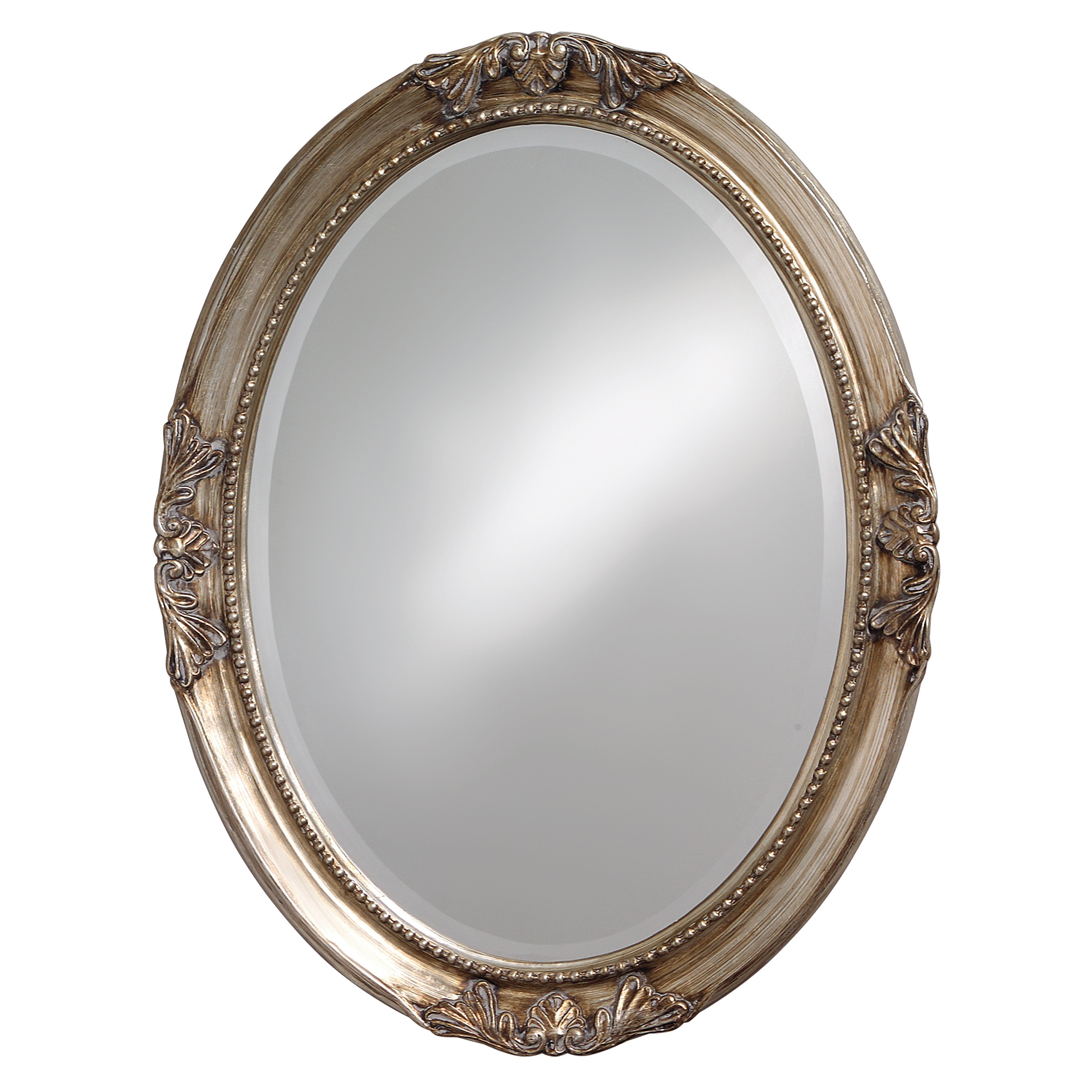 Lisette Silver Wood Oval Mirror 14036547 Overstock Com