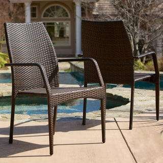6785d8158a81 Sale +!+Christopher Knight Home Canoga Outdoor Wicker Chairs (Set of ...