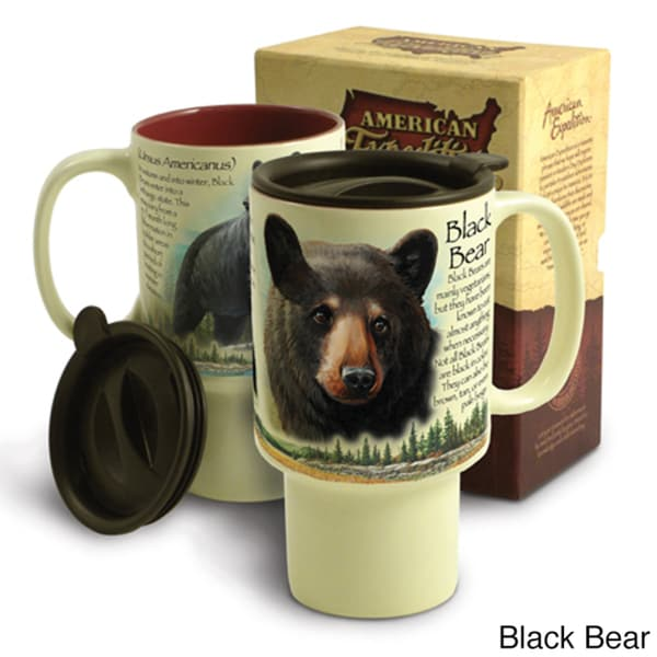 American Expedition Wildlife Stoneware Travel Mug
