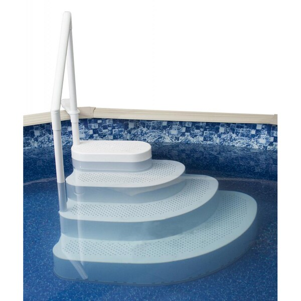 Blue Wave Wedding Cake Above Ground Pool Step Overstock