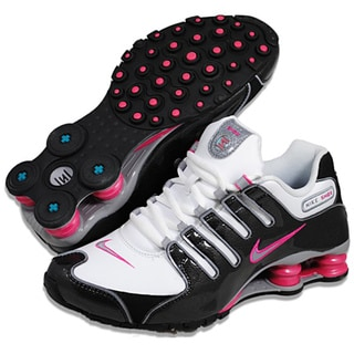 Nike Women S Shox Nz Sl White Black Pink Running Shoes