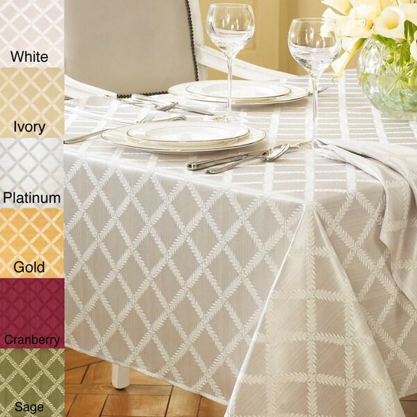 Lenox Laurel Leaf Lattice Cotton Blend Table Cloth