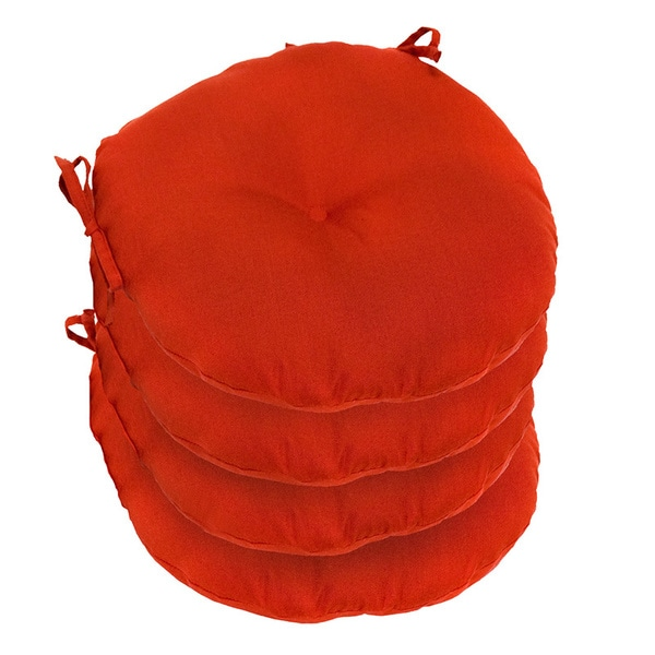 15 Inch Round Outdoor Salsa Bistro Chair Cushion Set Of 4 15243860 Overstock Com Shopping