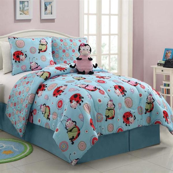 Vcny Lola The Lady Bug Reversible 3 Piece Comforter Set