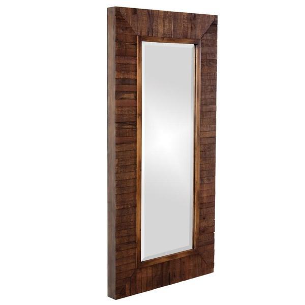 Timberlane Rustic Wood Plank Framed Mirror 15245702