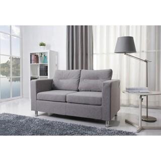 Gabi Apartment Size Khaki Chenille Microfiber Sofa