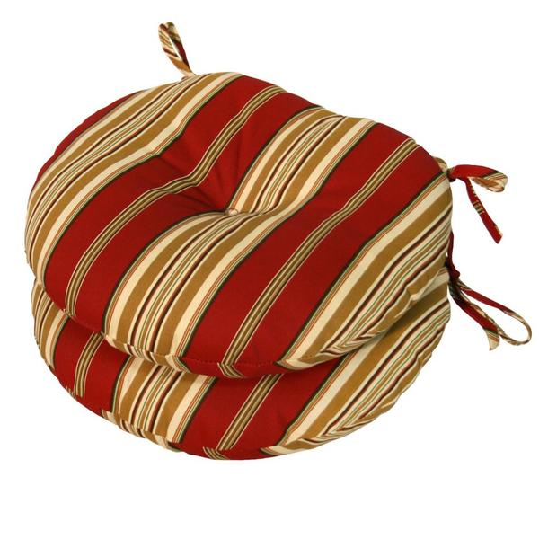 15 Inch Round Outdoor Roma Stripe Bistro Chair Cushions