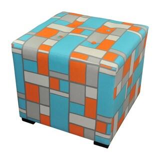 Sole Designs Denton Zigzag Square Ottoman 14378405