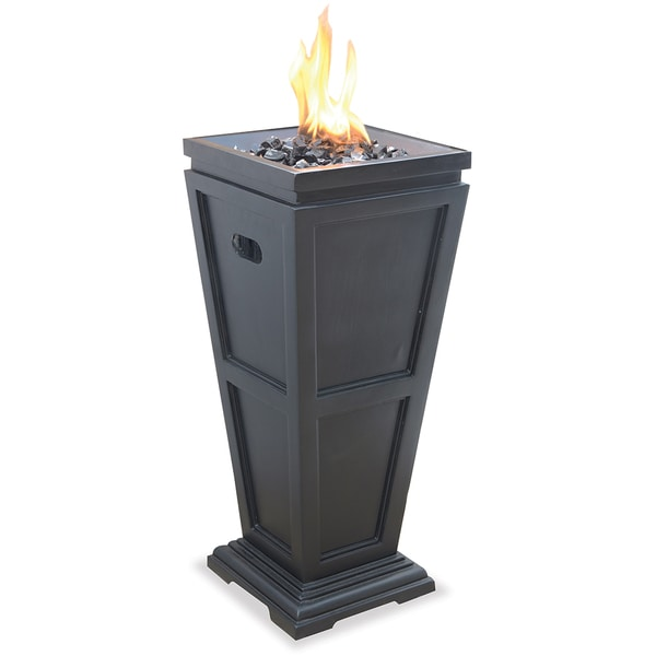 Uniflame Lp Gas Column Fire Pit 15257423 Overstock Com