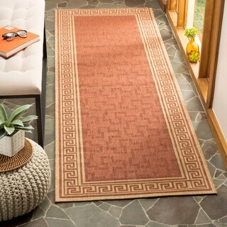 Martha Stewart by Safavieh Byzantium Terracotta/ Beige Indoor/ Outdoor Rug - 4' x 5'7