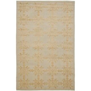 Martha Stewart Tracery Grey Beige Silk Wool Rug 2 6 X 4