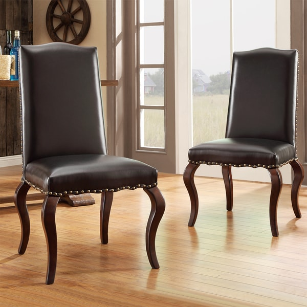 Inspire Q Andorra Velvet And Faux Alligator Leather Dining: INSPIRE Q Lorell Brown Bonded Leather Upholstered