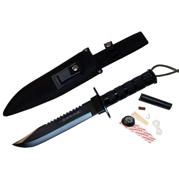 14 Inch Heavy Duty Carbon Steel Survival Knife Kit Defender