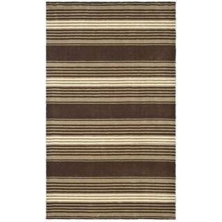 Safavieh Handmade Kenya Brown Charcoal Wool Rug 8 X 10