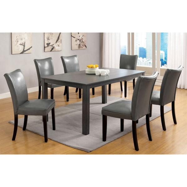 Rectangular Dining Table With Bench: Furniture Of America Belton Gray 60-inch Contemporary