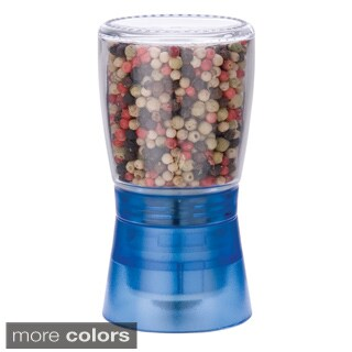 MIU France Blue Glass and Plastic Spice Grinder with Ceramic Gear