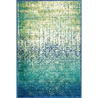 Skye Monet Blue Cascade Rug 7 7 X 10 5 15150000