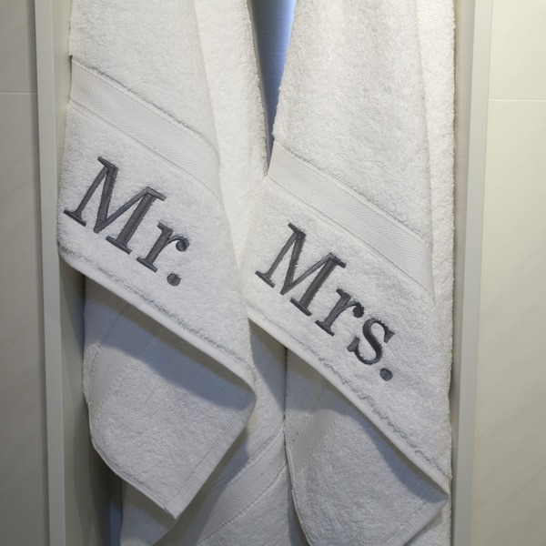 Authentic Hotel And Spa Embroidered Mr And Mrs