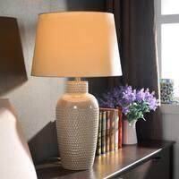 Design Craft Bindy 28-inch Iridescent Ceramic Table Lamp