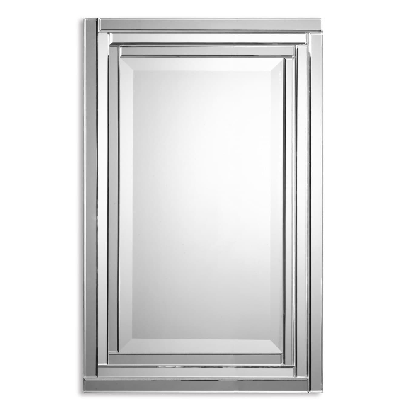 Overstock Mirrors: Uttermost 'Alanna' Frameless Vanity Mirror