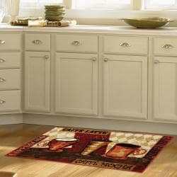 Mohawk Home Jazzy Coffee Red Kitchen Rug 1 8 X 3 9