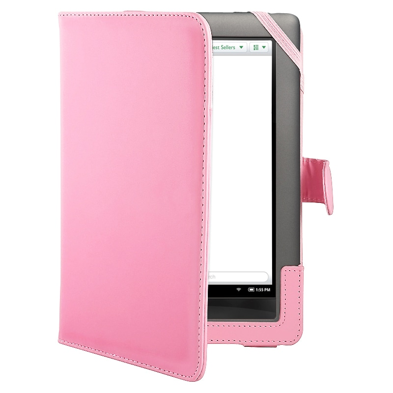 Pink Leather Protective Accessory Case For Barnes And