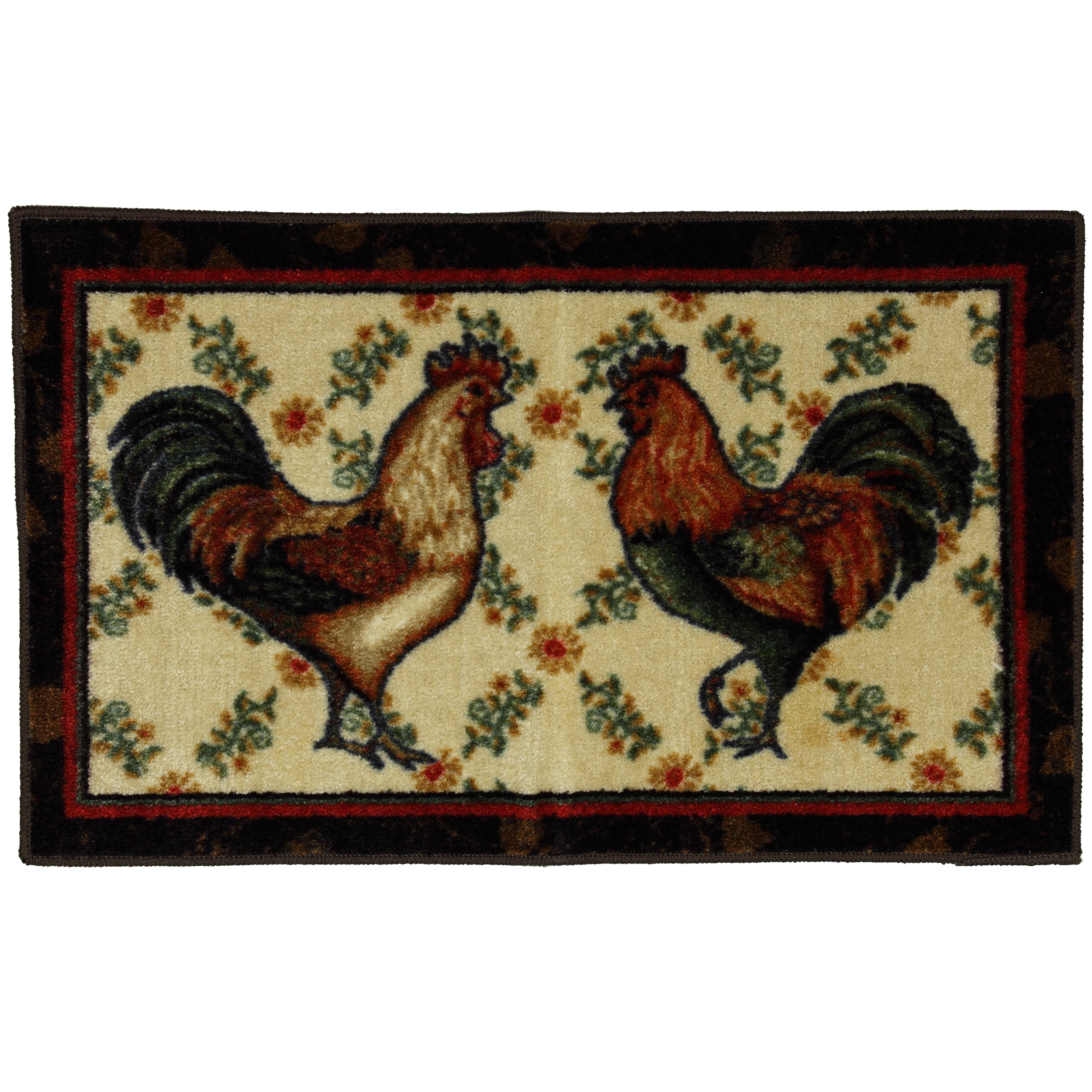 Country Kitchen Rugs: Mohawk Home Country Roosters Brown Kitchen Rug (1'9 X 2'10