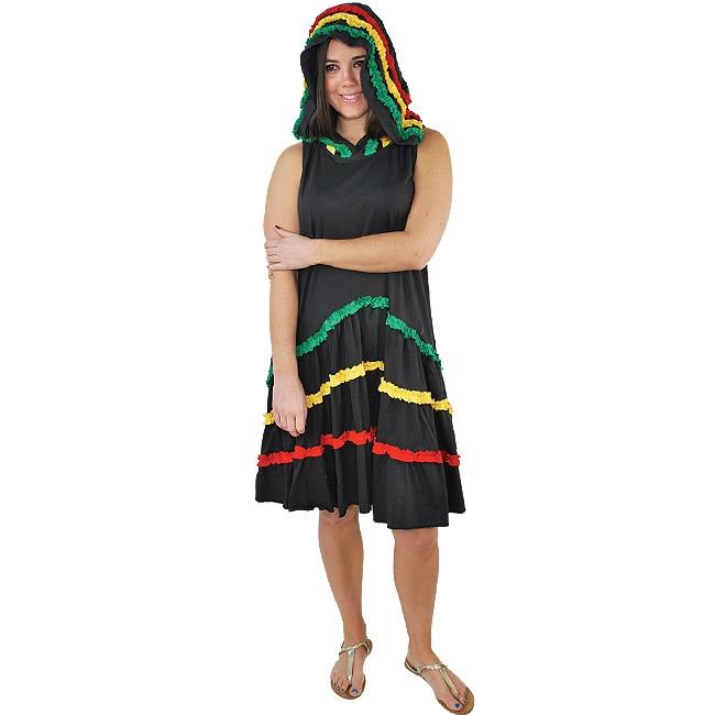 Women's Rasta Hoodie Dress (Nepal) - Overstock™ Shopping ...