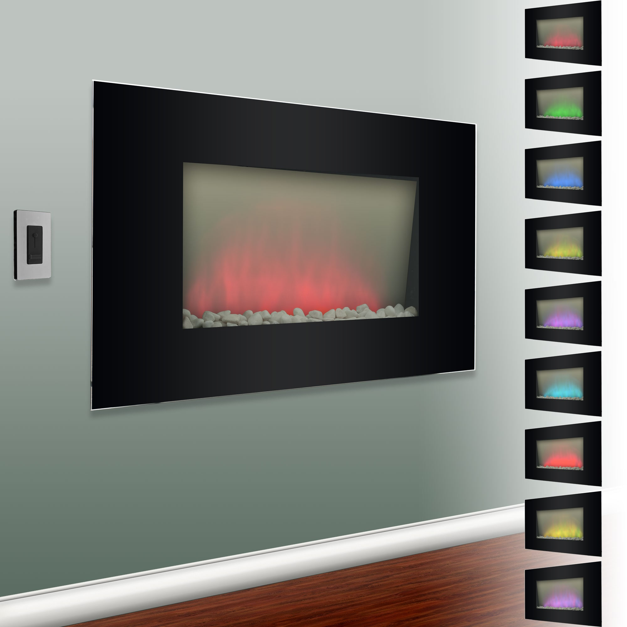 Verona Color Changing Electric Fireplace Heater 14265317