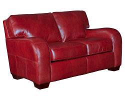 Broyhill Melanie Red Leather Sofa Loveseat Set