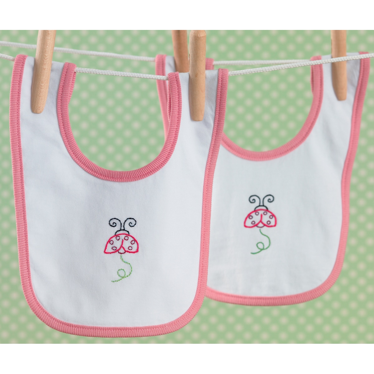 Martha Stewart Baby Bib Pair Stamped Embroidery Kit