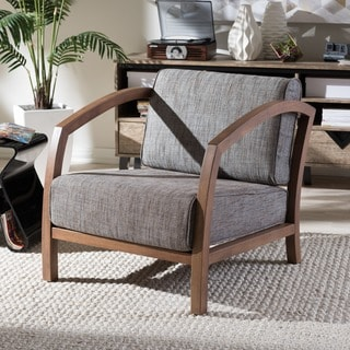 Tribecca Home Patterson Faux Leather And Oak Mission