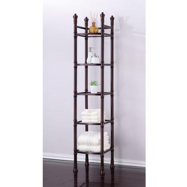 Monte Carlo Bathroom Tower Shelf 15289474 Overstock