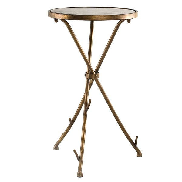 Solid Stone Top Stick End Table Overstock Shopping