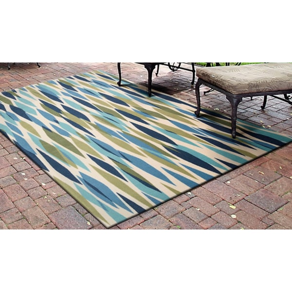 Waverly Sun N Shade By Nourison Seaglass Indoor Outdoor