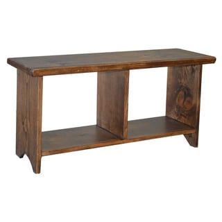 Unfinished Solid Parawood Brookstone Bench 16585214